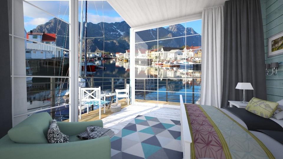 Lofoten Islands Hotel - Bedroom - by margesimpson2000