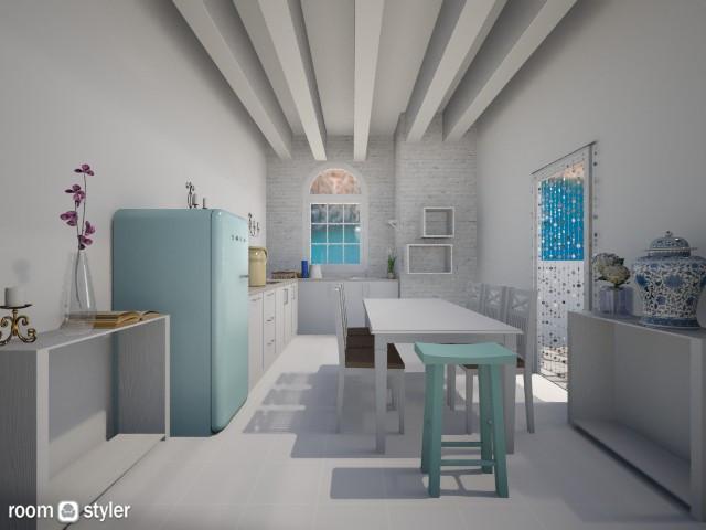 Mediterraneo Brasileiro - Kitchen - by Gi Pires P