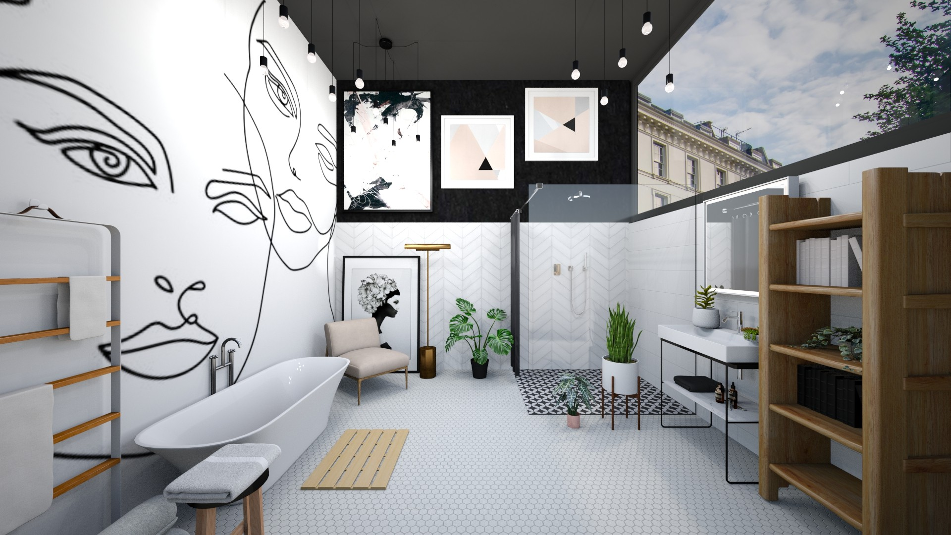 faces - Minimal - Bathroom  - by Happyspaniel