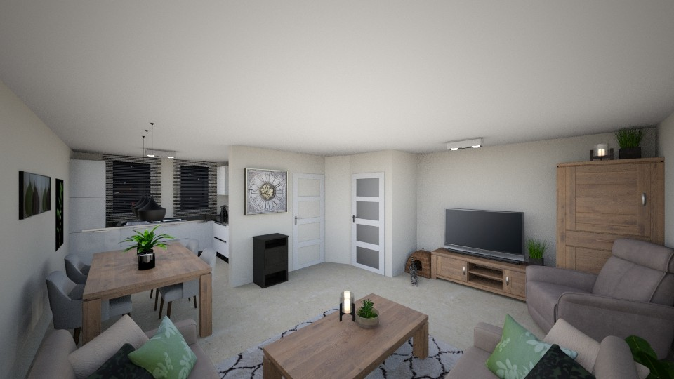 livingroom new furniture - Living room  - by kiekster77
