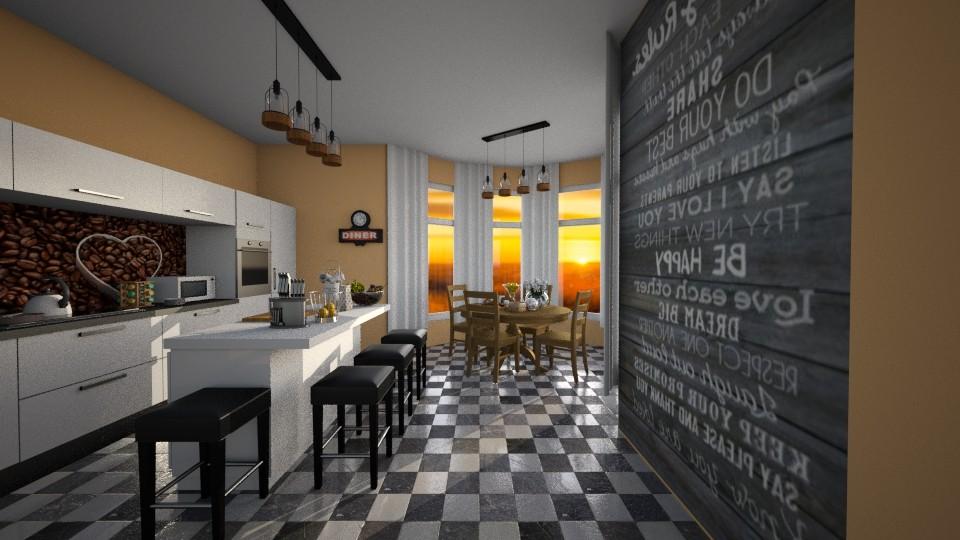 92 Family Kitchen - Kitchen - by Agata_ody