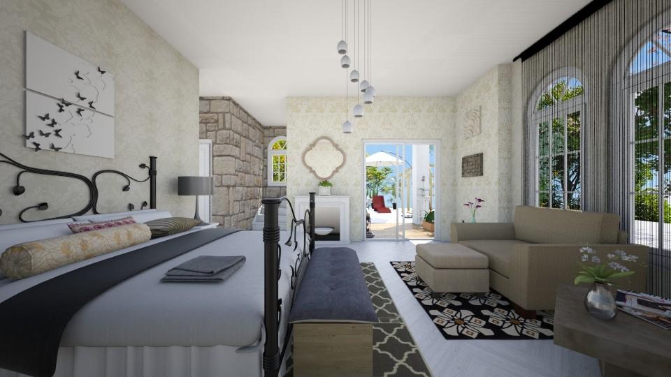 Beige room - Bedroom - by Lucy Miranda