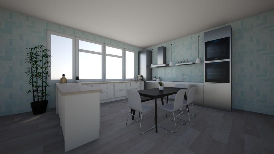 Blue Kitchen - Kitchen - by Designs by Hailey