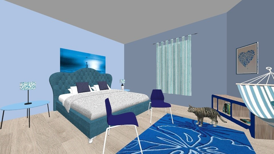 A Bluedroom for a teen - Classic - Bedroom - by hdricci01123890