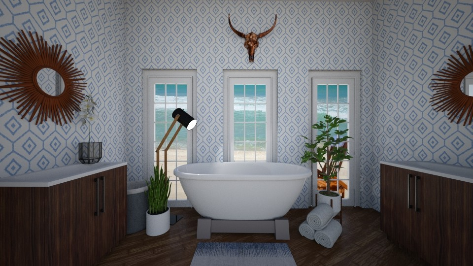 White Bathroom - Modern - Bathroom - by ElieK