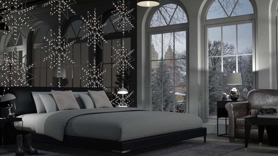 Winter Wonderland Bedroom - Bedroom - by Teigh Lynn