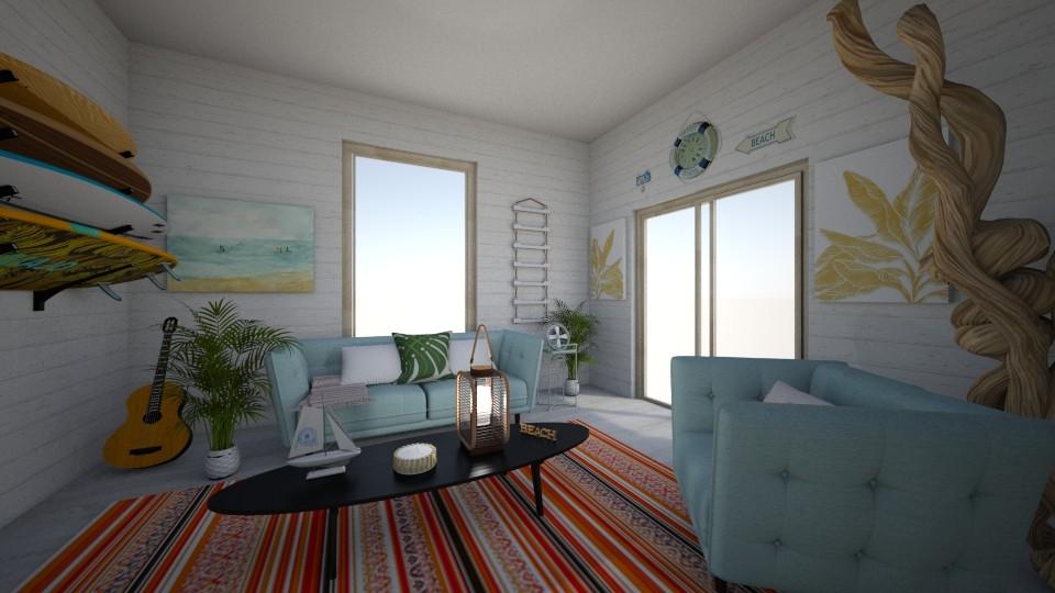 beachy tingz - Living room - by alomireles
