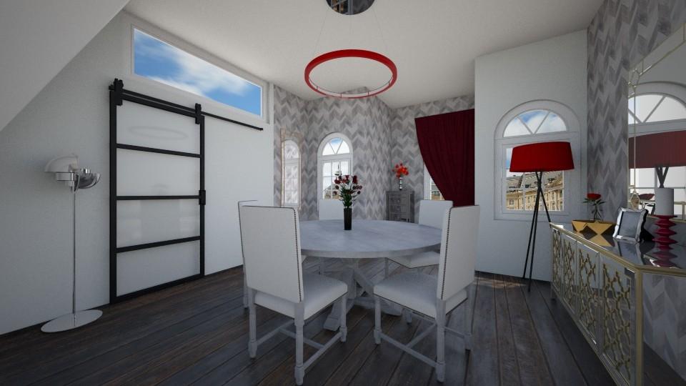 GREY - Dining room - by Jadee_
