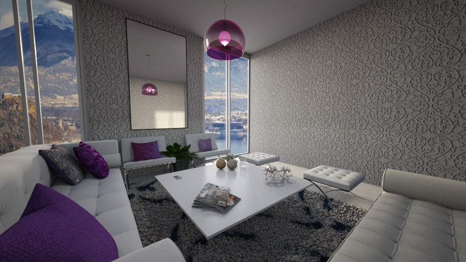 purple living - Living room - by aggelidi 12312