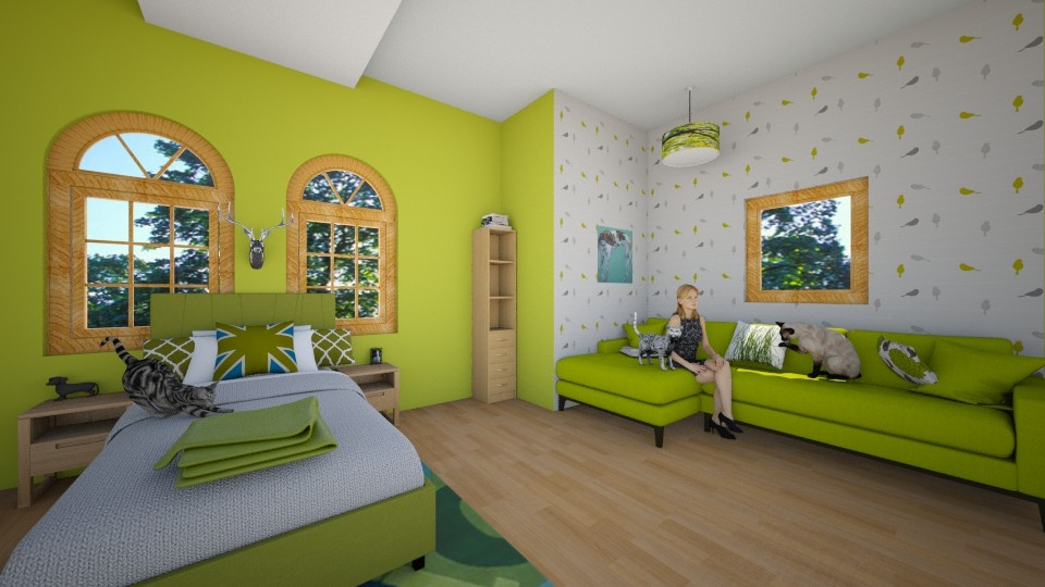 Lovin the green - Country - Bedroom - by KatieBowes