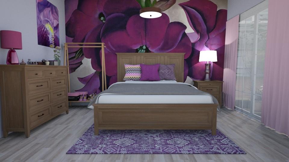 Petunia Inspired Bedroom - Feminine - Bedroom - by lyrikkah