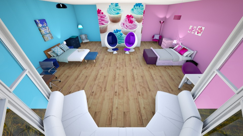 Bedroom BlueandPink - Bedroom - by qwertytje