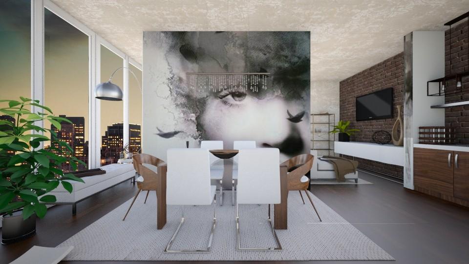 FOCUS _credit artbysih - Modern - Dining room - by Georgina Holly