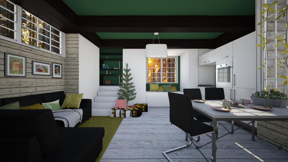Winter modern room - Living room - by AnnaMull