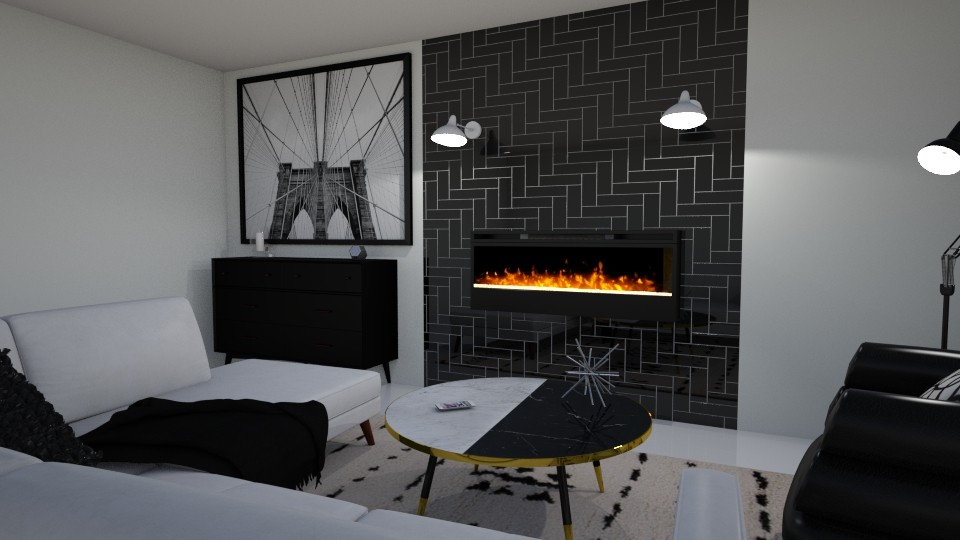 Black_White Living 54 - Living room  - by Puppies44