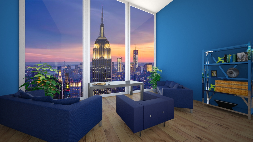 Blue - Modern - Living room - by a1is0n