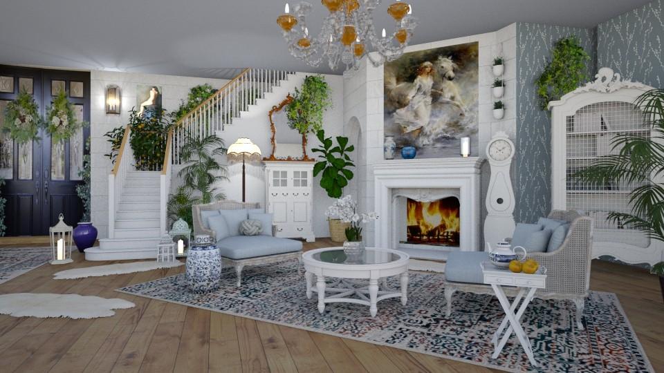 Shabby Chic Living Room - by lydiaenderlebell