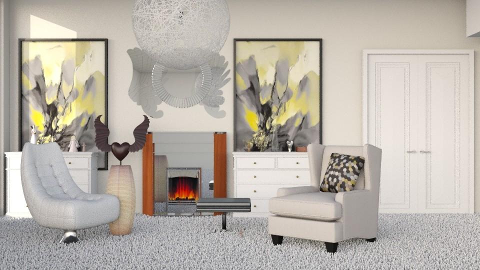 Wings of an Angel - Modern - Living room - by InteriorDesigner111