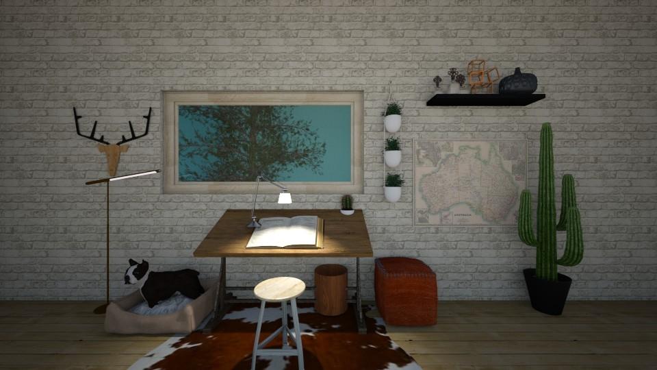 Office - Rustic - Office - by kbaj
