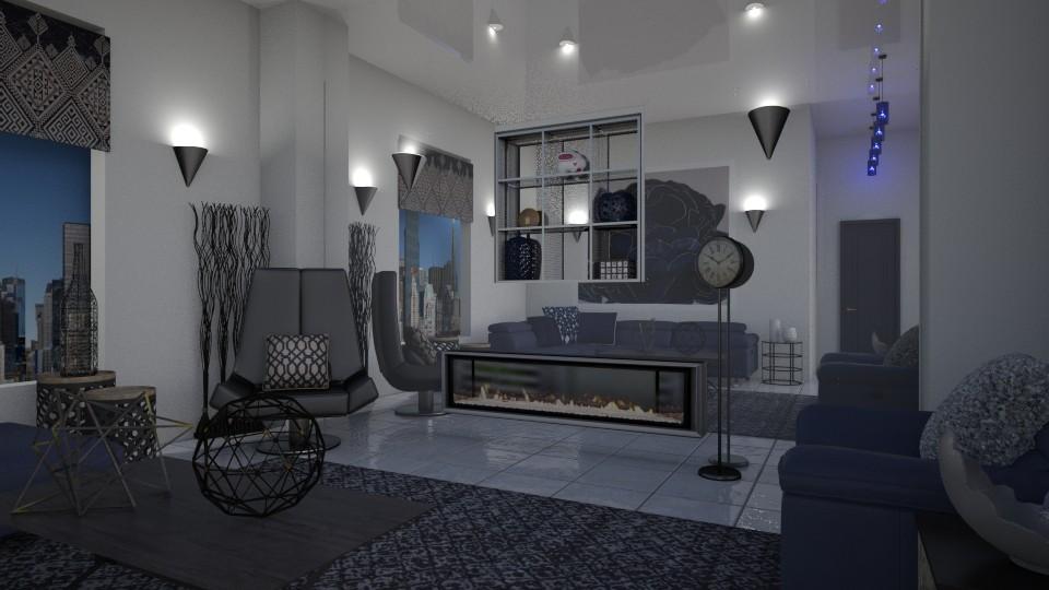 Blue Dahlia - Living room  - by Lackew
