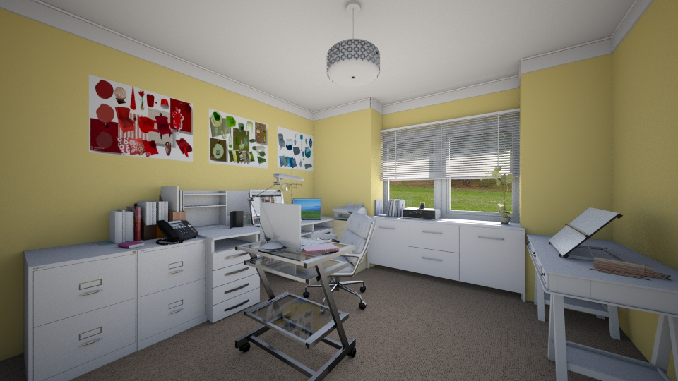Feminine Home office - by Interiors by Laura