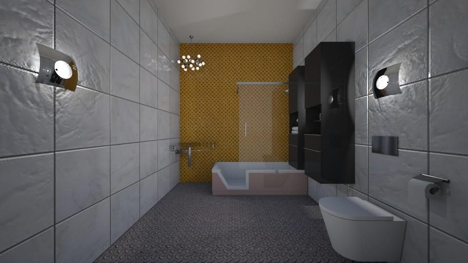 Construction Site  - Masculine - Bathroom - by jaiden2006