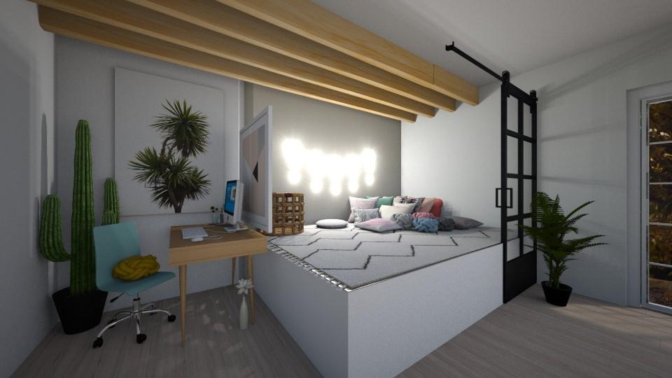 desk and bedroom - by belly bel bel