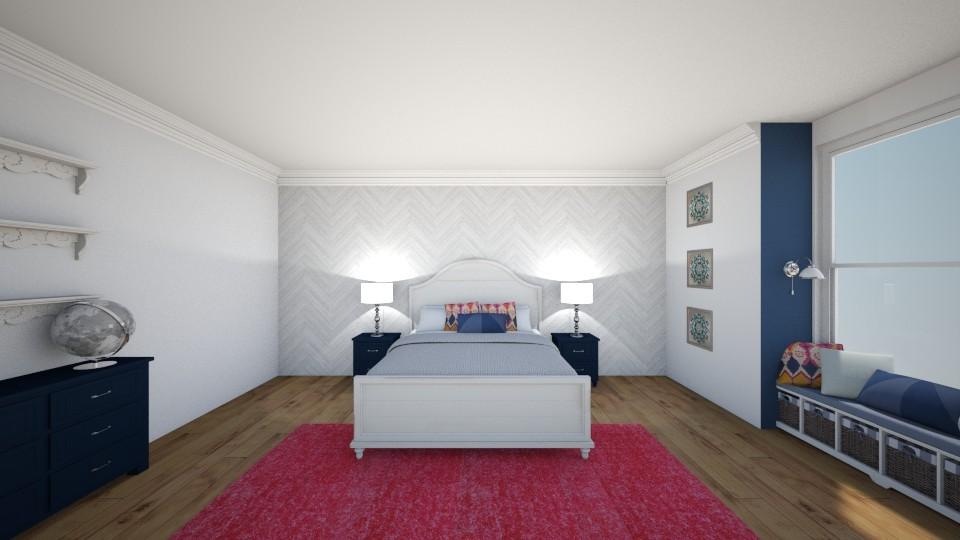 Navy Bed - Bedroom  - by jmeyer2x4