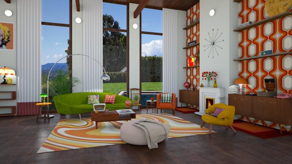 mid century modern - Retro - Living room  - by annator