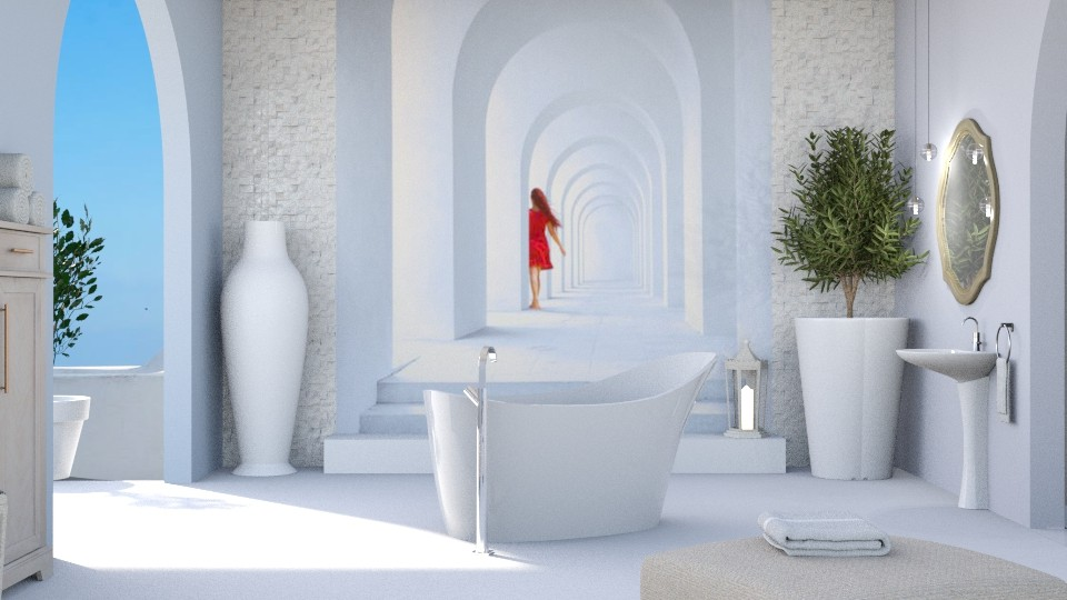 Lady in red - Bathroom - by jagwas