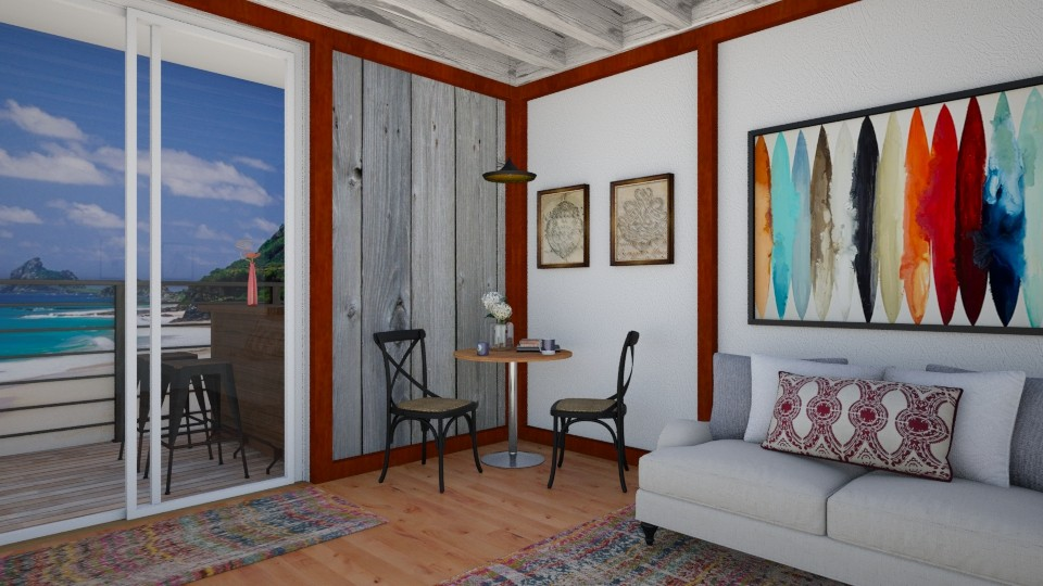 Brazilian Beach Condo - Global - Living room - by ANM_975