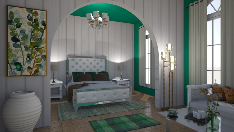 Green Bedroom - Bedroom - by Roomstyler101102