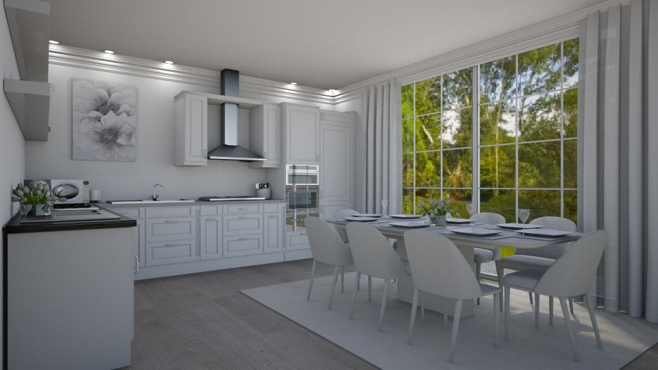 Bright White Kitchen - by creato