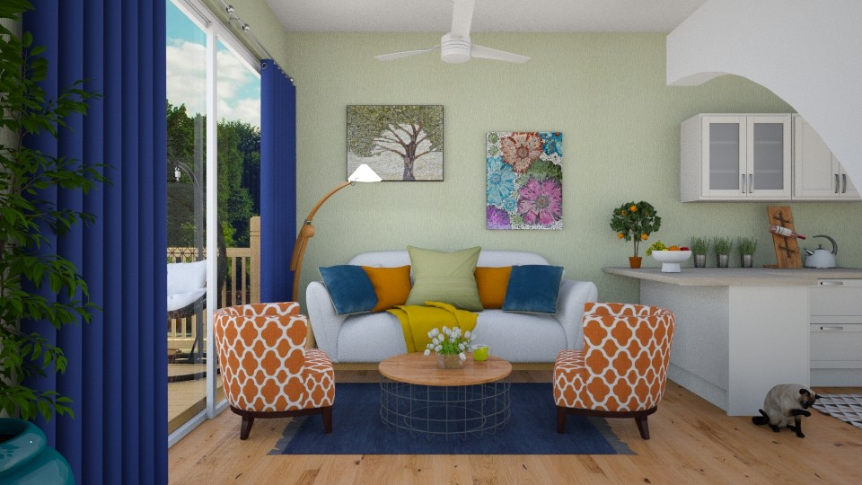 Colorfull spring - Living room - by agapka