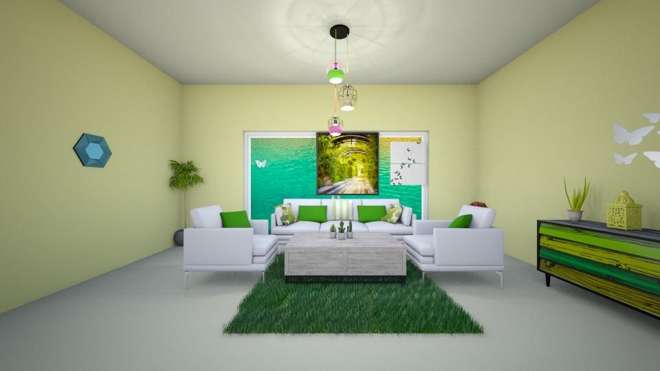 lime - Living room - by Deni star
