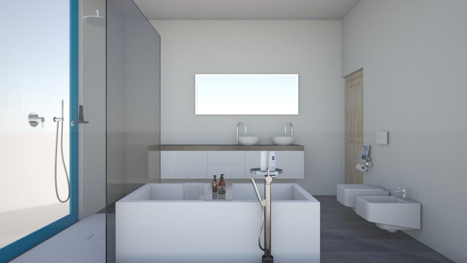 MariesHausBadvonSchlafz1 - Modern - Bathroom - by Marie Harrer