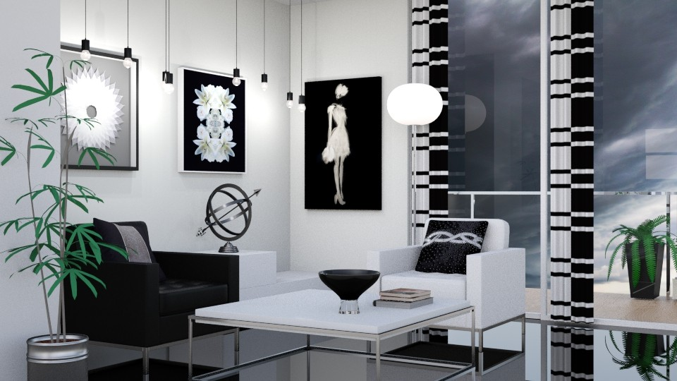 Black and White 2 - Modern - Living room - by Snowbell