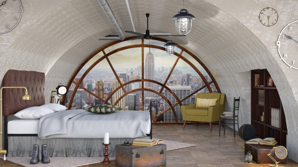 Steampunk Bedroom - Bedroom - by ArtHousedeco