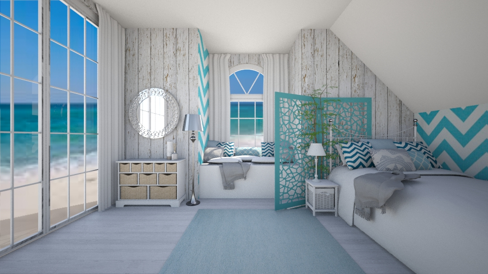 blue - Bedroom - by debbygoyens
