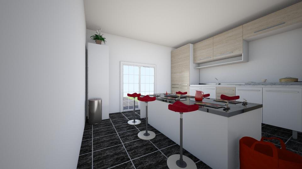 kitchen1 - Glamour - Kitchen  - by home deigner404