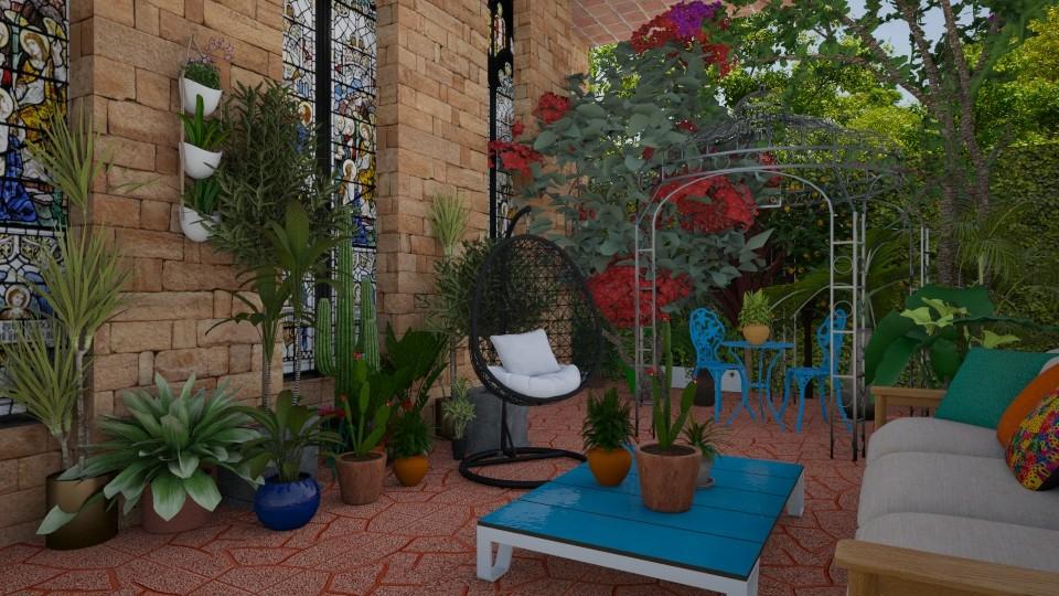 colorful courtyard - Garden - by rebsrebsmmg