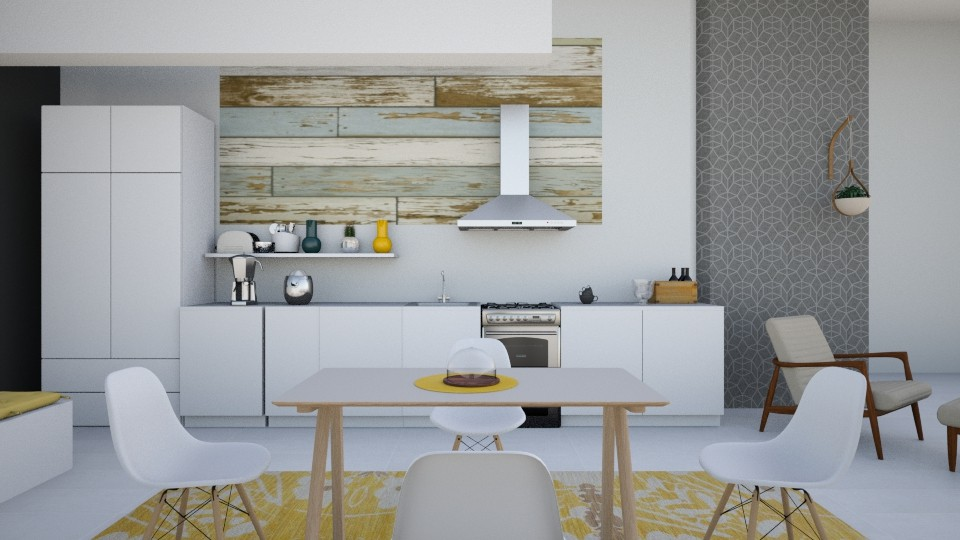 Yellow Kitchen  - Kitchen - by Roomstyler101102