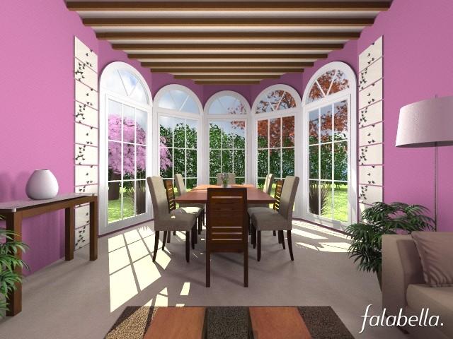 Purple Pleasure - Dining room  - by CassW