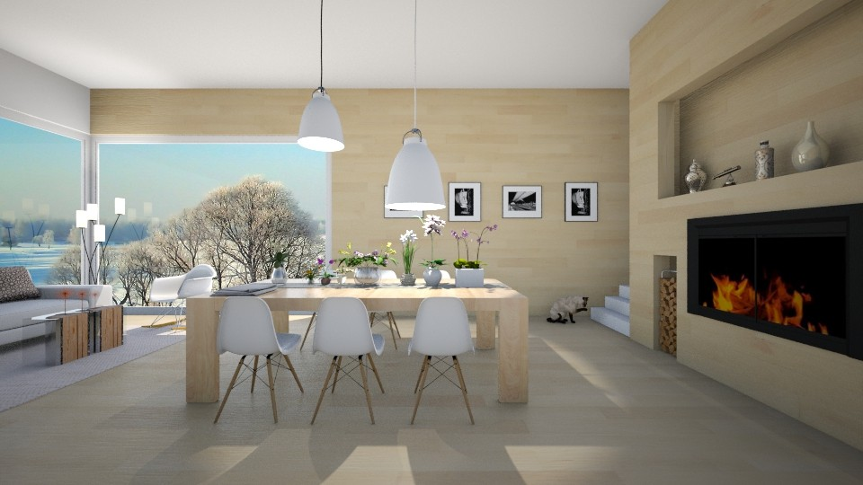 Winter - Dining room  - by Val Val