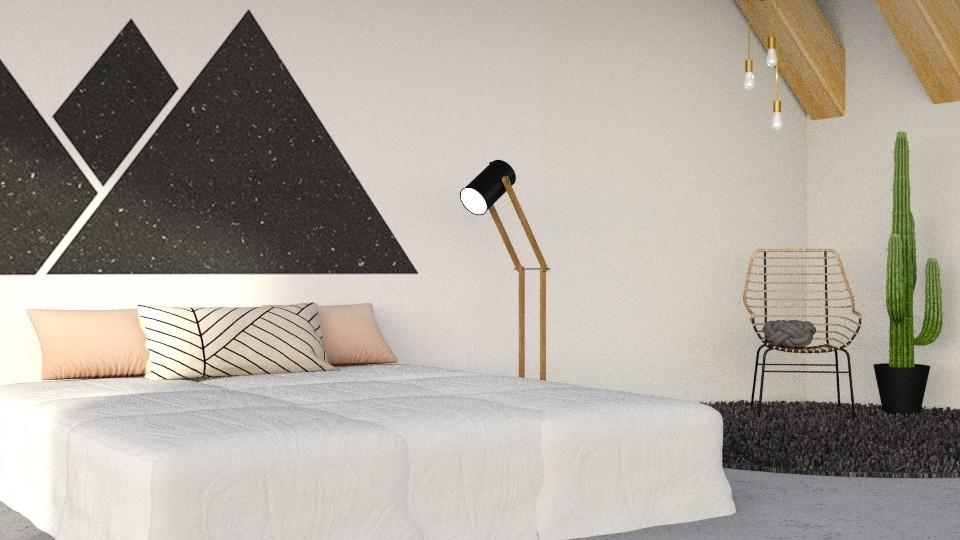 Geometric Bedroom - Bedroom - by CatsFurLife
