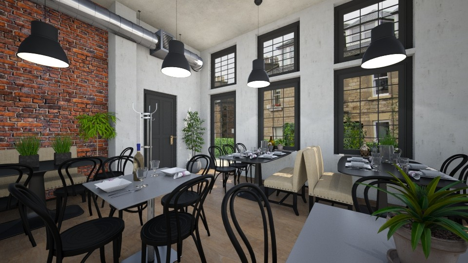 Cozy industrial - Dining room - by Tuija