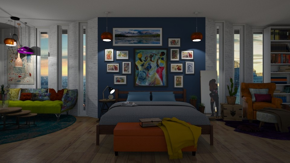 MORE IS MORE - Bedroom - by maheen ahsan