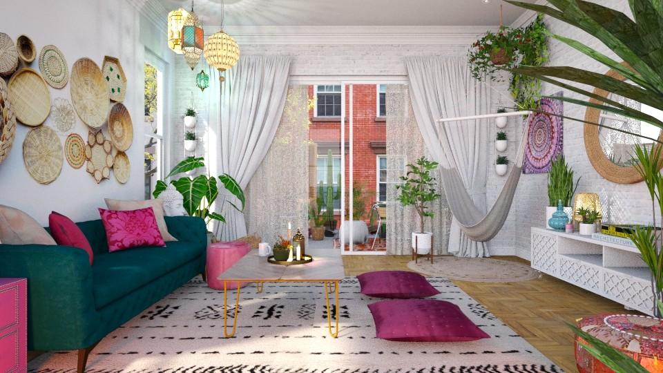 Modern Boho Bright - Living room - by smunro7