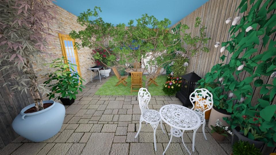 Back Yard2 - Garden - by Piplington