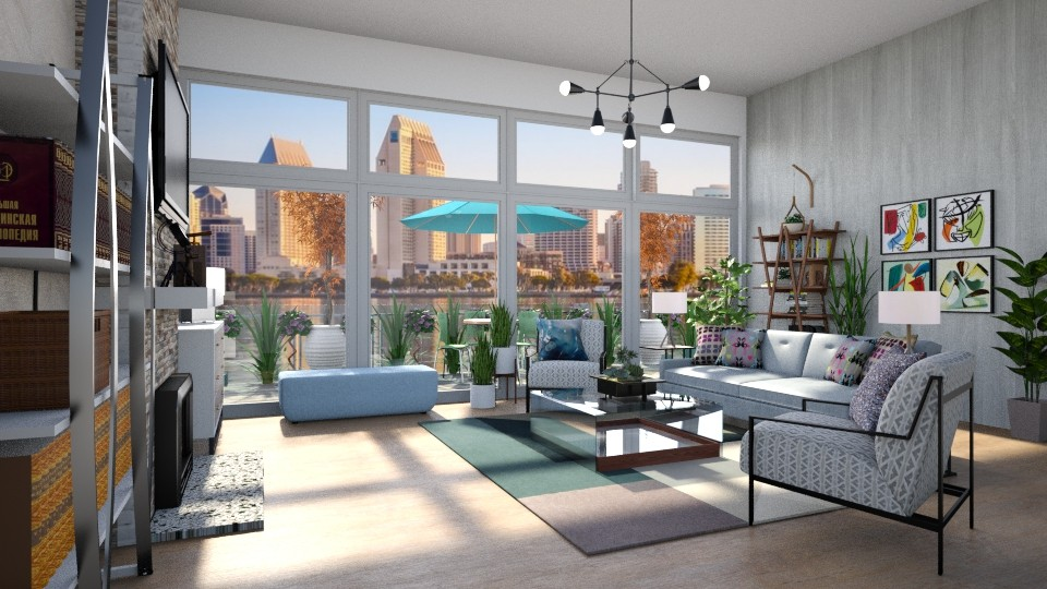 Mid Century Modern LR 5 - Living room - by  krc60